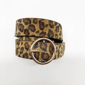 Accessories - Linea Pelle Boutique Faux Fur Leopard Printed Belt